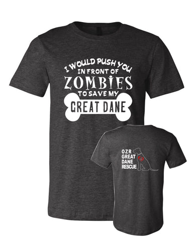 Zombies to Save Great Dane - OZRGD Logo - Adult Tee