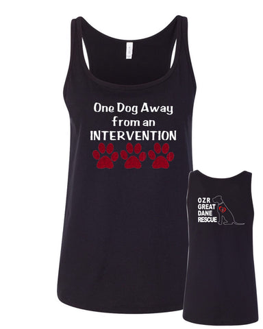 One Dog away - OZRGD Logo -  Women's Relaxed Jersey Tank