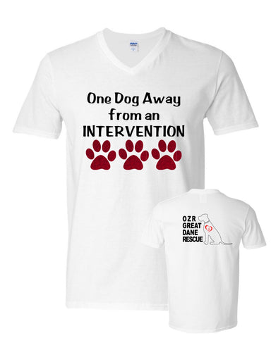 One Dog Away - OZRGD Logo - Adult VNeck Tee
