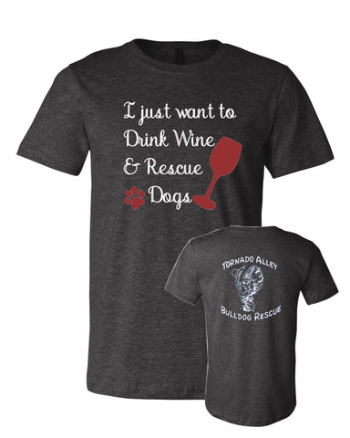 Drink Wine & Rescue Dogs - TABR Logo - Adult Tee