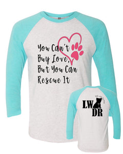 You Can't Buy Love - LWDR Logo - Baseball Tee