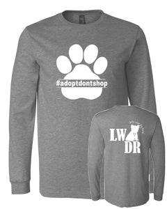 Adopt Don't Shop- LWDR Logo - Long Sleeve Tee