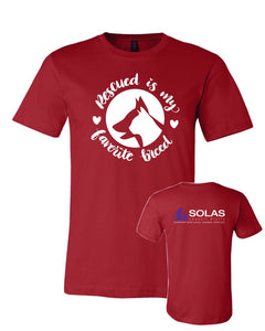 100% Rescued - SOLAS Logo - Adult Tee