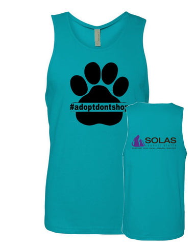 Adopt Don't Shop - SOLAS Logo - Unisex Cotton Tank