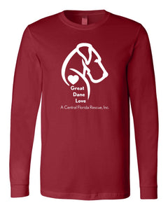 Great Dane Love A Central Florida Rescue - Long Sleeve Tee