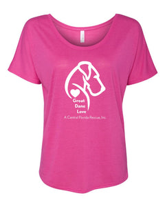 Great Dane Love A Central Florida Rescue - Women's Slouchy Tee