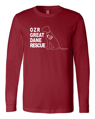 OZR Great Dane Rescue - Long Sleeve Tee