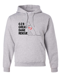 OZR Great Dane Rescue Logo - Pullover Hoodie