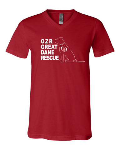 OZR Great Dane Rescue - Adult VNeck Tee