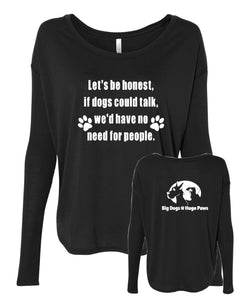 Let's Be Honest - BDHP Logo - Women's Flowy Long Sleeve with 2x1 Sleeves