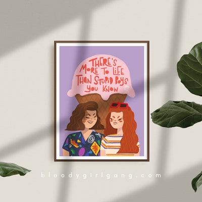 Stranger Things - Stupid Boys Art Print