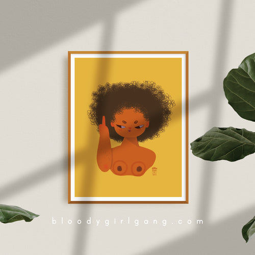 ZFG Big Hair Art Print