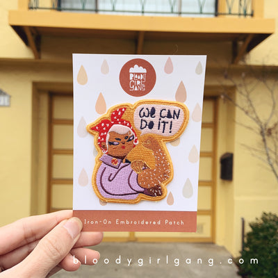We Can Do It Iron-on Embroidered Patch