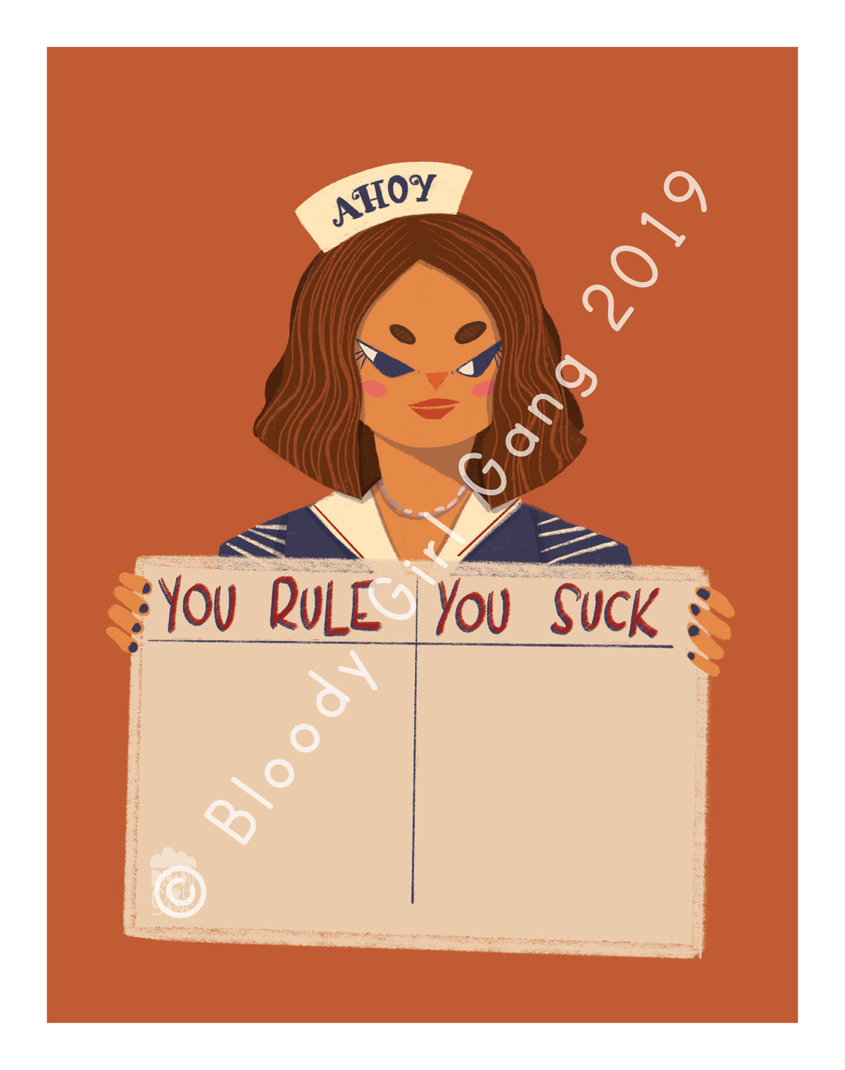 Stranger Things - You Rule You Suck Art Print
