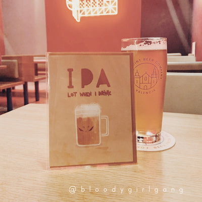 IPA Lot When I Drink Greeting Card