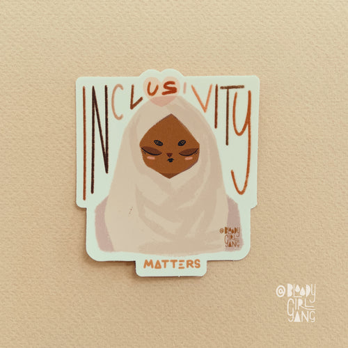 Inclusivity Matters - Hijab Girl Sticker