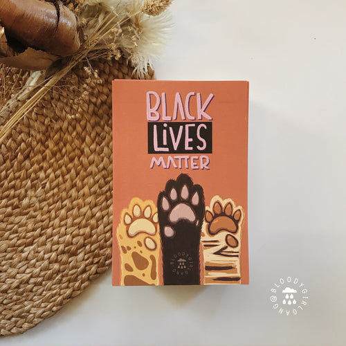 Black Lives Matter Meow Postcard