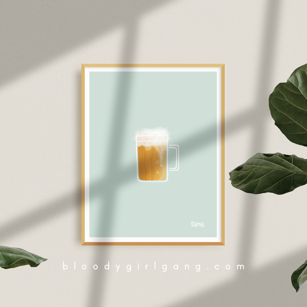 Icy Cold Beer Art Print