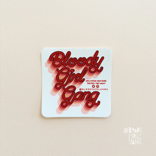 Bloody Girl Gang Sq Sticker
