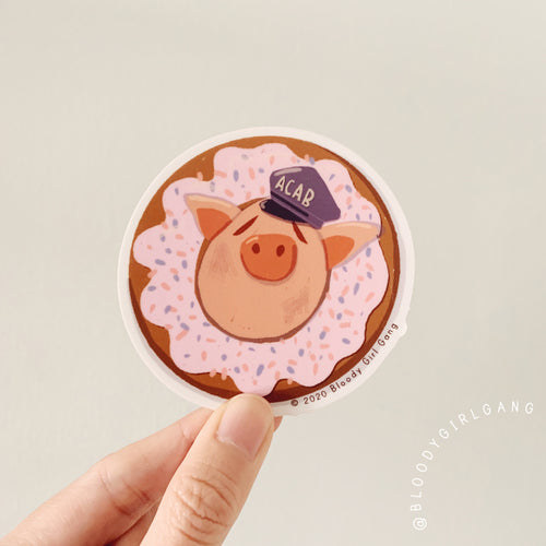 Bacon Donut Sticker