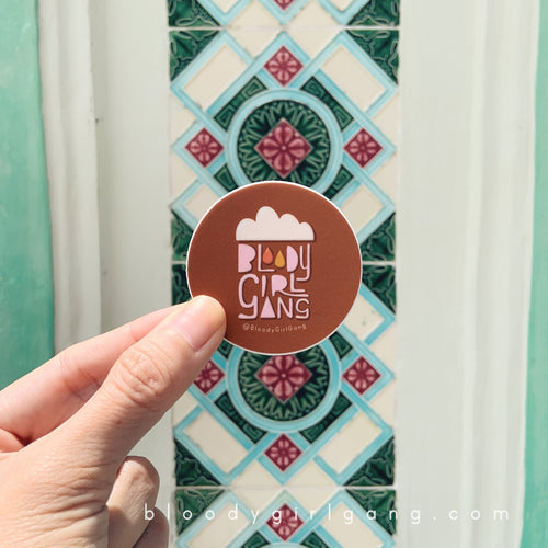 Bloody Girl Gang Raincloud Sticker