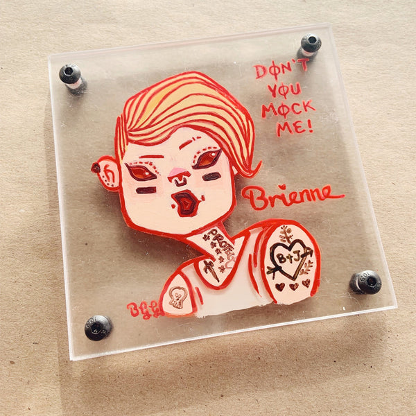 Game of Thrones Girl Power - Brienne of Tarth - Don't You Mock Me Hand-painted Coaster Fan Art