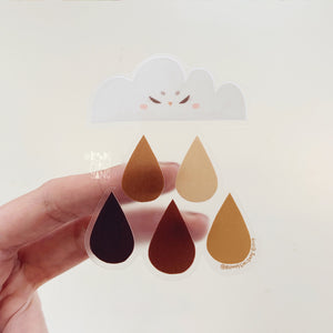 Rain of Intersectionality Transparent Sticker