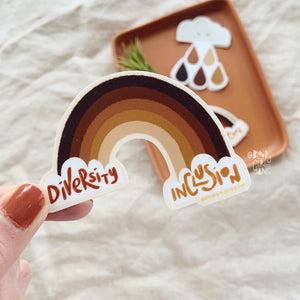 Diversity and Inclusion Rainbow Sticker