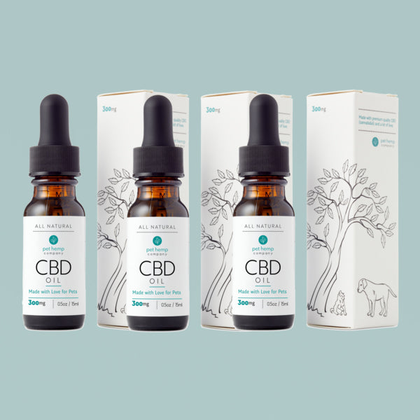 Pet Hemp Company Bundle & Save: 3 Medium CBD Pet Tinctures (3 x 300mg)