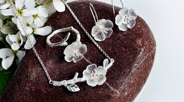 lotus fun - flower in the rain jewelry set