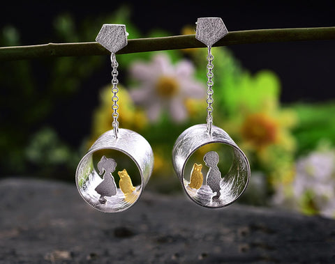 boy and girl meets cat earring