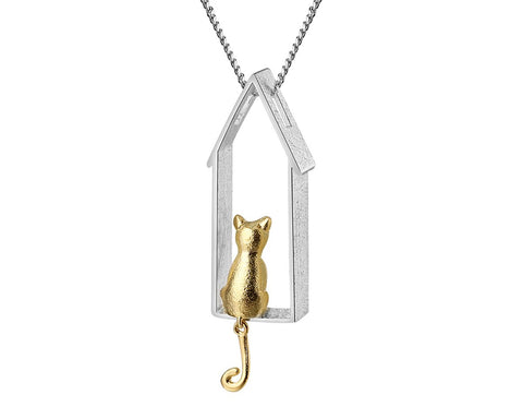 dreaming cat pendant