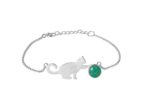 playful cat jewelry bracelet