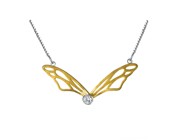 Hollow Butterfly Wings Necklace