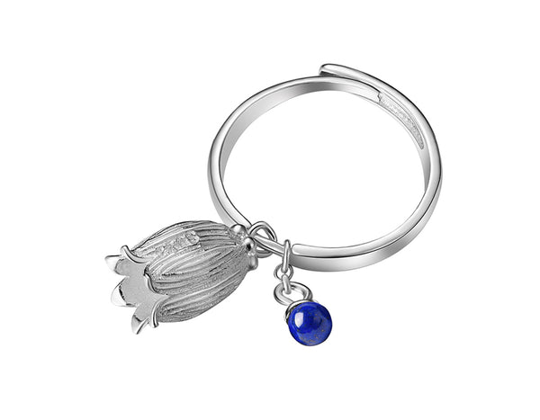 Lapis Bud Ring - Lotus Fun