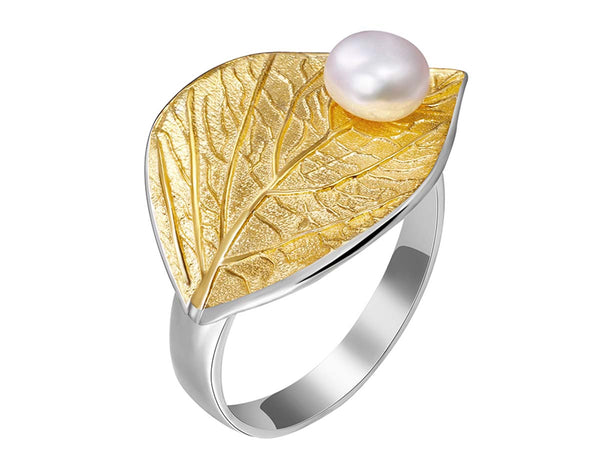 Pearl Leaf Ring - Lotus Fun