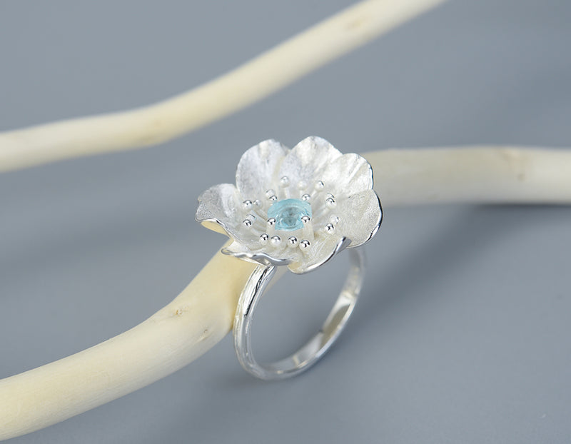 Blooming Anemone Flower Ring