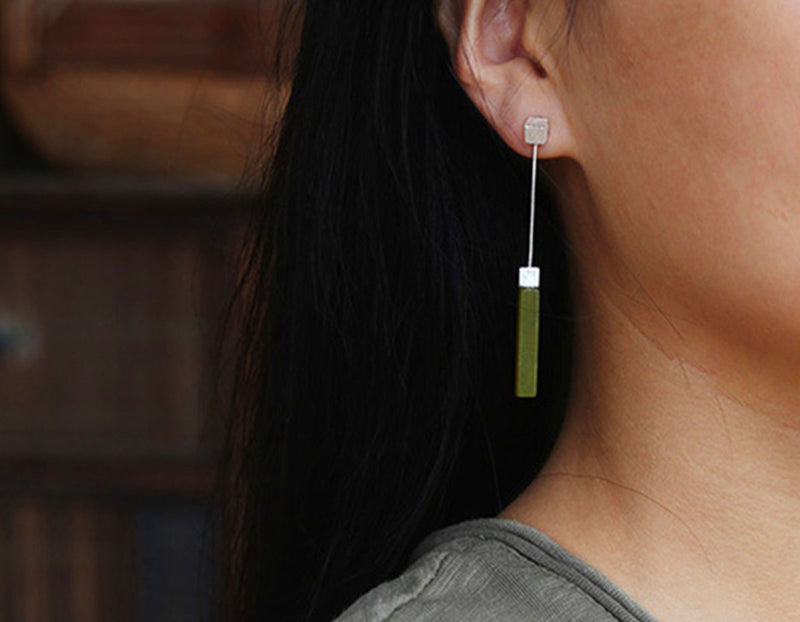 Serpentine Bar Earring - Lotus Fun