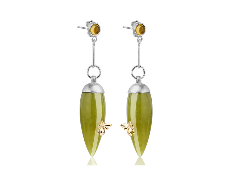 Serpentine Bee Earring