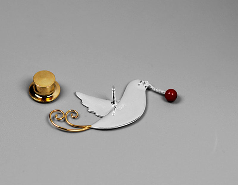 Flying Pigeon Brooch