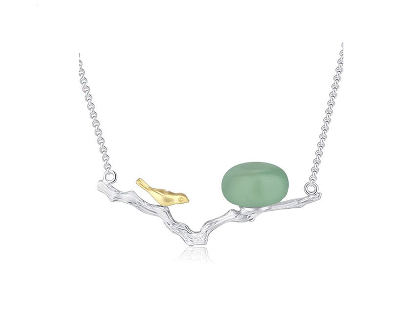 Birds on Branch Nest Necklace