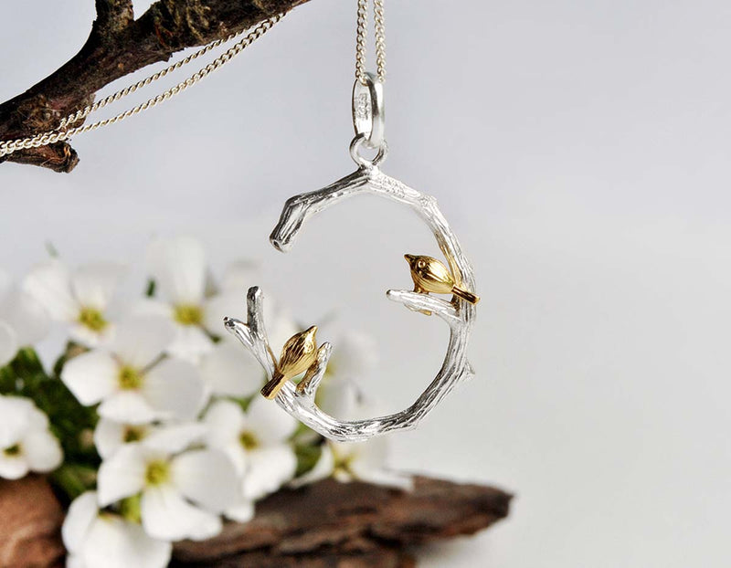 Birds on Branch Pendant - Lotus Fun