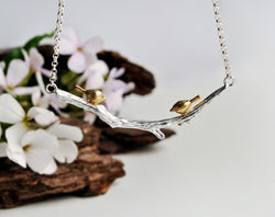 Birds on Branch Necklace - Lotus Fun