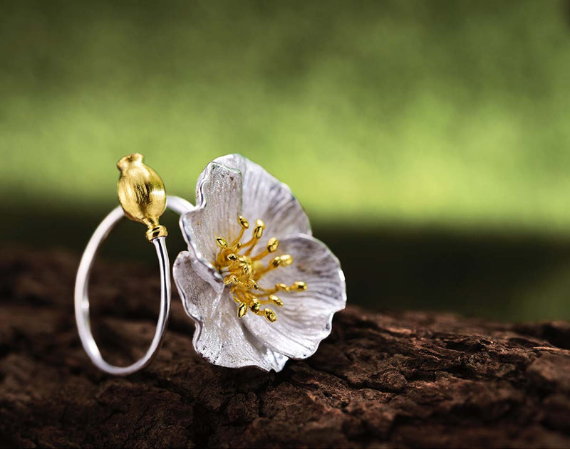 Blooming Poppies Ring - Lotus Fun