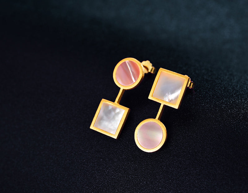 The Art of Circle and Square Earring