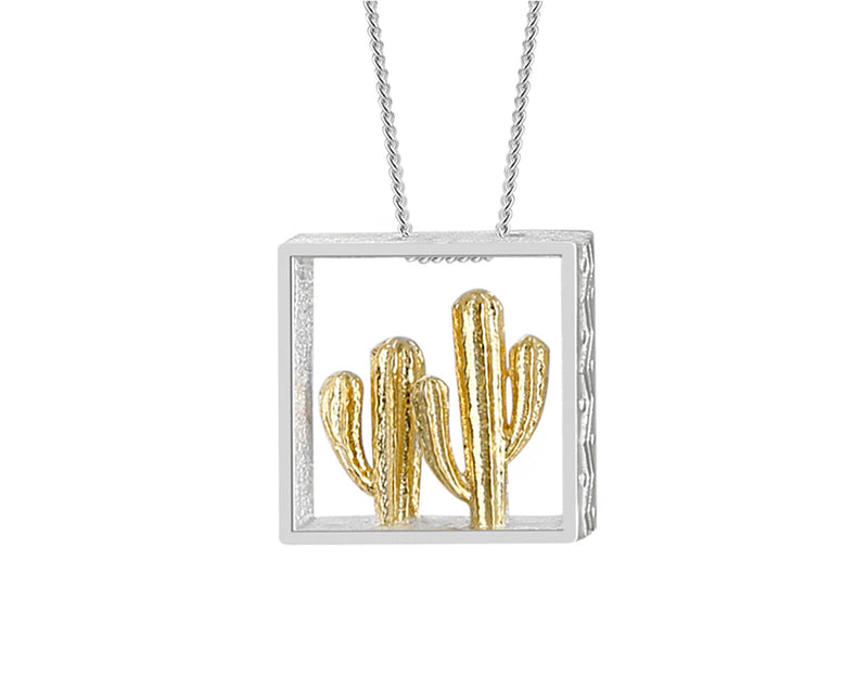 Sterling Silver | Cactus Pendant - Lotus Fun