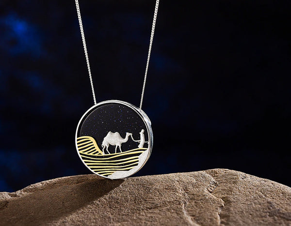 Desert on a Starry Night Pendant