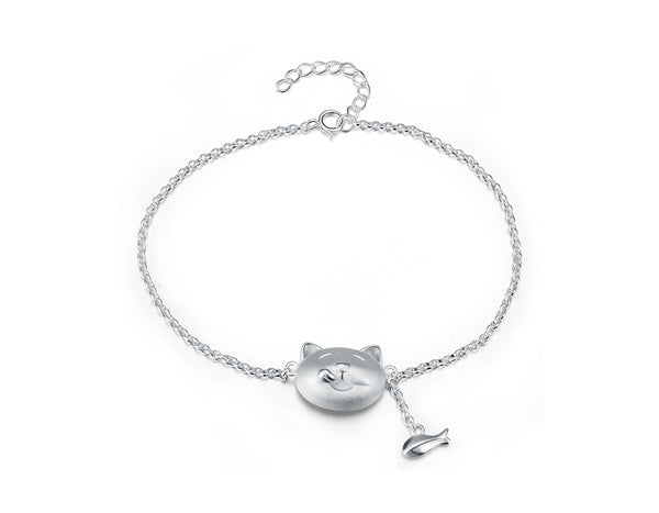 Greedy Cat and Fish Bracelet