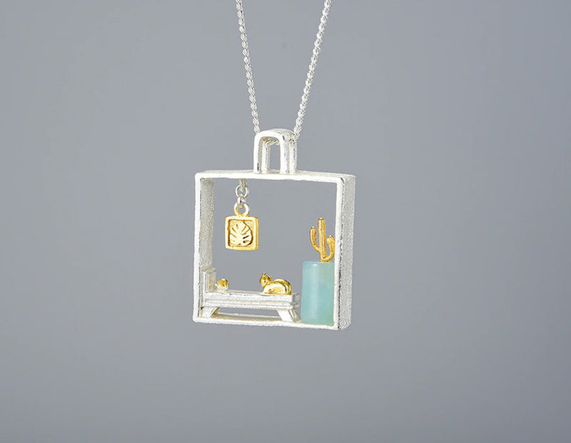 Lazy Cat at Home Pendant