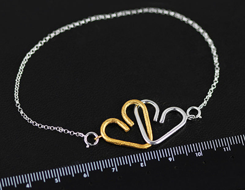 Chained Heart Bracelet - Lotus Fun